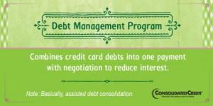 Debt management program financial literacy tip