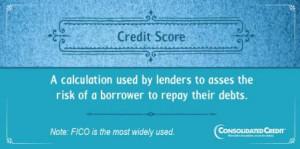 Credit score financial literacy tip