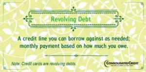 Revolving debt financial literacy tip