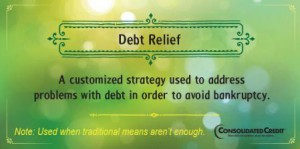 Debt relief financial literacy tip