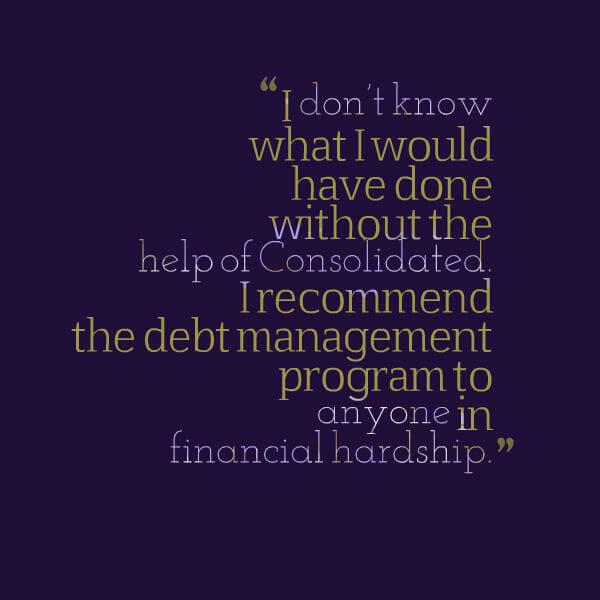 A debt management program rescued Cheryl