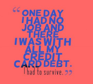 Job loss often leads to credit card debt