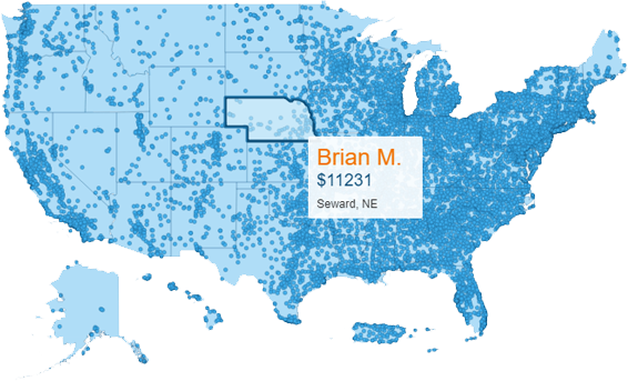 Map - Debt Consolidation