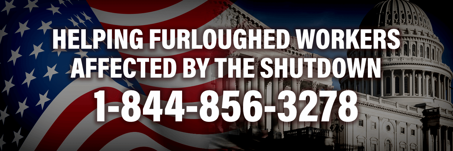 Helping Furloughed Workers Affected by the Shutdown: 1-844-856-3278