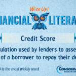 Financial Literacy - Wise Up! Credit Score: A calculation used by lenders to assess the risk of a borrower to repay their debts.