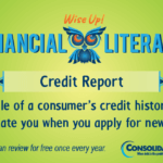 Financial Literacy - Wise Up! Credit Report: A profile of a consumer's credit history used to evaluate you when you apply for new credit.