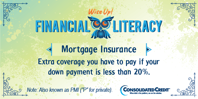 Financial Literacy - Wise Up! Mortgage Insurance: Extra coverage you have to pay if your down payment is less than 20%