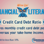 Financial Literacy - Wise Up! Credit Card Debt Ratio: Measures monthly credit card debt payments versus your take-home income
