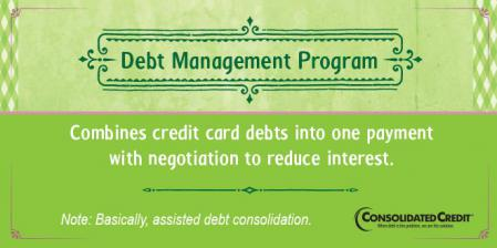 Debt management program financial literacy tip