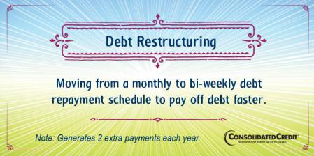 Debt restructuring financial literacy tip