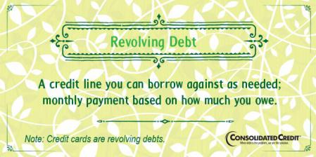 Revolving debt financial literacy tip