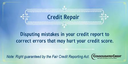 Credit repair financial literacy tip