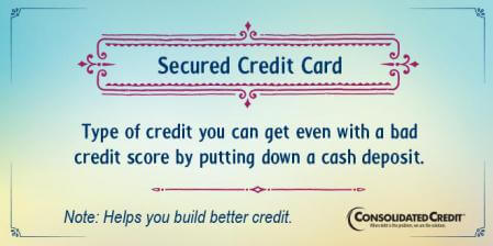 Secured credit card financial literacy tip