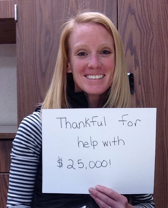 Ms. Adams is thankful for help with $25,000 in credit card debt