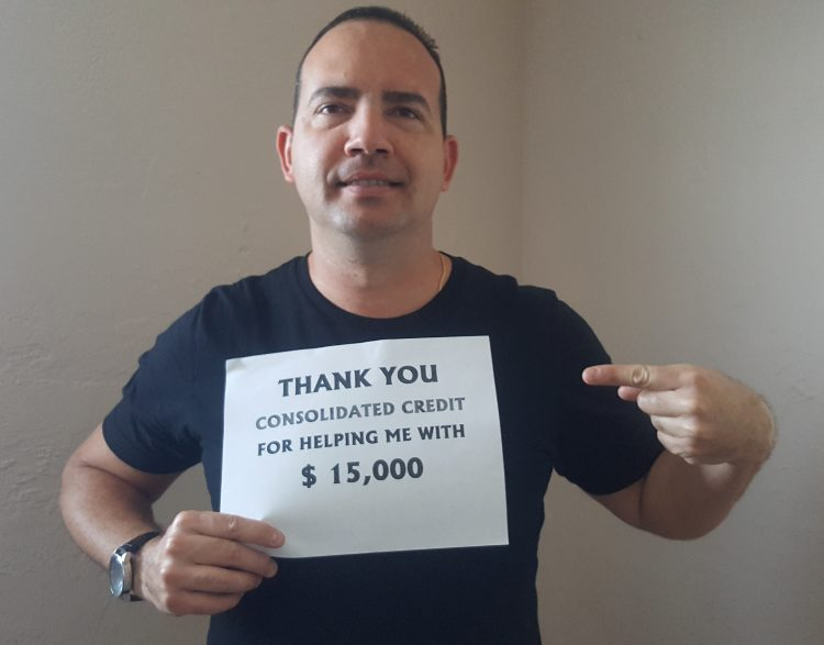 Aljenadro Alvarez: Thank you Consolidated Credit for helping me with $15,000