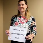 Alicia Khalek is thankful for help with over $20,000 of debt