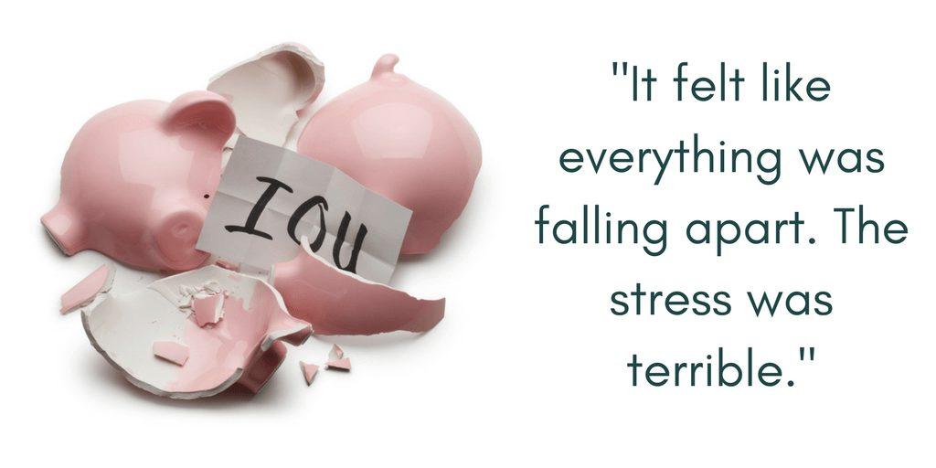Barbara felt the immense emotional burden debt stress syndrome