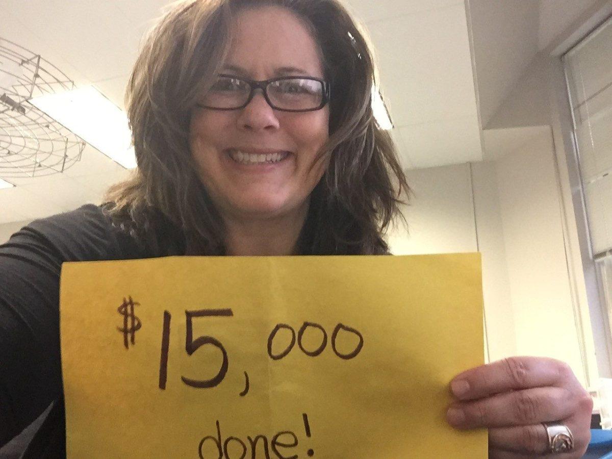 Jen DiMaggio Ryan: $15,000 done!