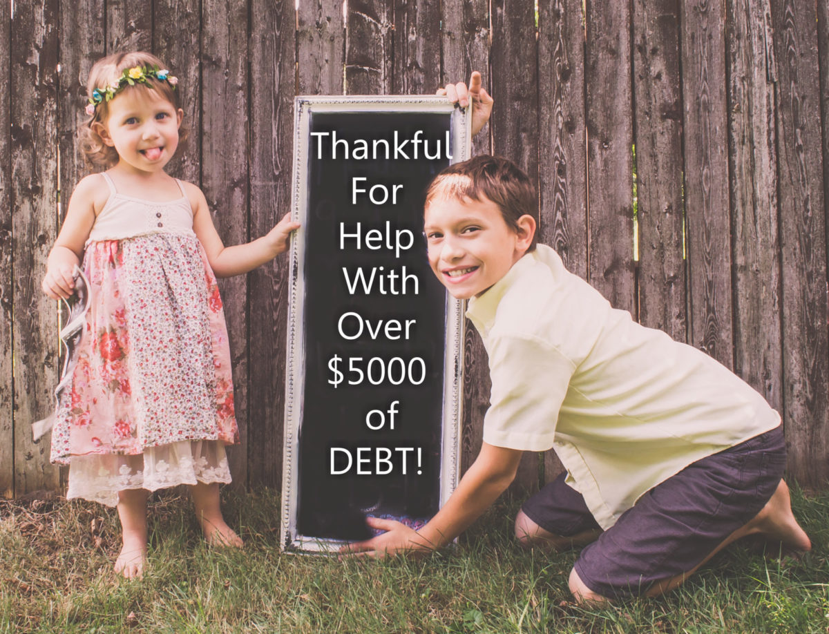 Lee: Thankful for help with over $5,000 of Debt!