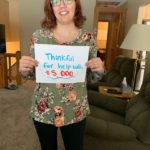 Rebecca Rose: Thankful for help with $5,000
