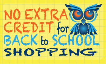 No Extra Credit for Back to School Shopping Infographic