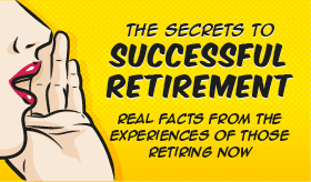Goes to page displaying info graphic on learning the secrets to a successful retirement plan