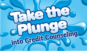 Goes to page displaying info graphic on how to take the plunge into credit counseling