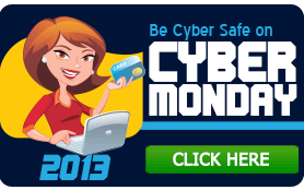Goes to page displaying info graphic on how to be safe on Cyber Monday