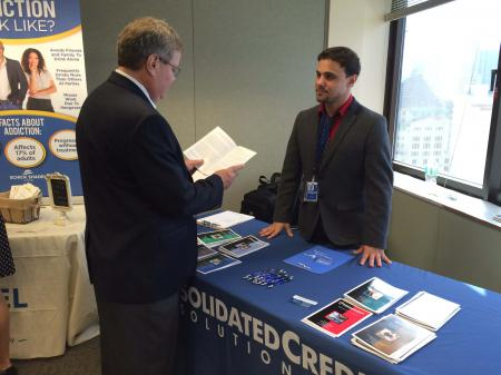 Damian Conti of Consolidated Credit participated in an event for Miami-Dade County employees at Government Center in Miami.