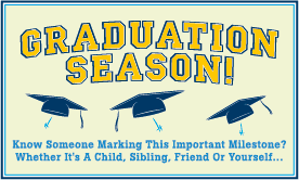 Goes to page displaying info graphic on how not to let a graduation party break your budget