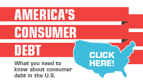 Goes to page displaying info graphic on the different types of consumer debt
