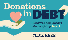 Goes to page displaying info graphic on people who donate while in debt.