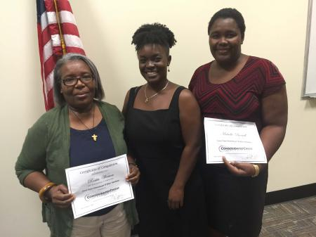 Charmaine Williams awarded Certificates of Completion to those in attendance.