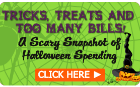 Goes to page displaying info graphic on how too many bills over Halloween can lead to scary amounts of debt