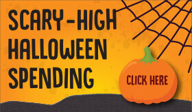 Goes to page displaying info graphic on how Americans stack up for Halloween spending