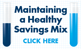 Goes to page displaying info graphic on how to maintain a healthy savings mix