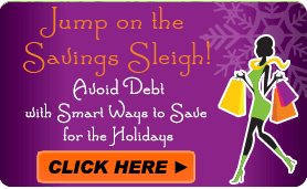 Goes to page displaying info graphic on tips for saving money and increasing income for the holidays