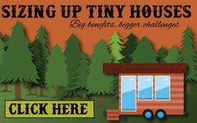 Goes to page displaying info graphic on the big truth about tiny houses