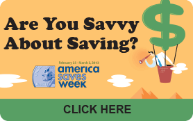 Goes to page displaying info graphic on whether you are savvy about saving