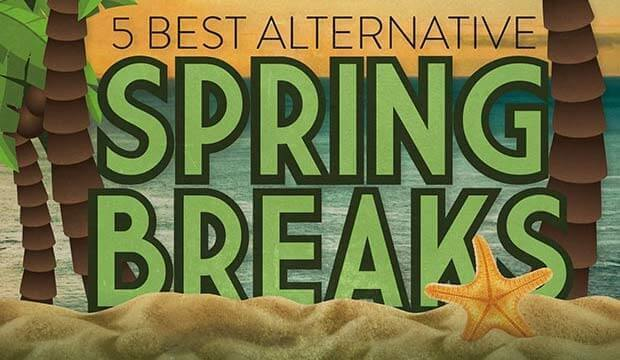 Goes to page displaying info graphic on the 5 Best Alternative Spring Breaks
