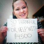 Photo of Rhiannon saving $4500