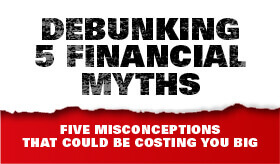 Goes to page displaying info graphic on the facts on 5 financial myths