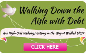 Goes to page displaying info graphic on tips for walking down the aisle with debt