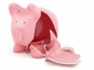 Financial stability broken by negative net worth