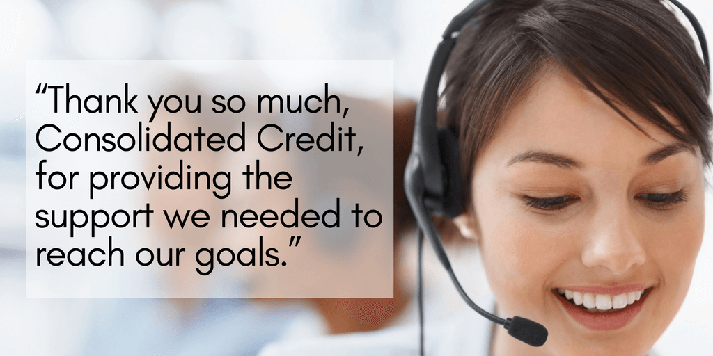Matilde thanks Consolidated Credit for helping her get out of debt