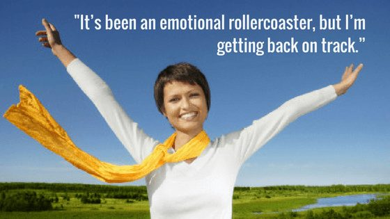 "Paula says, ""It's been an emotional rollercoaster, but I'm getting back on track."""""