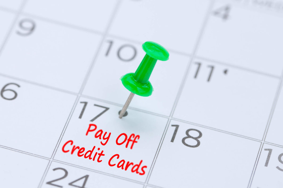 Find the best way to reduce credit card debt so you can set a target date to pay off your credit cards on your calendar.