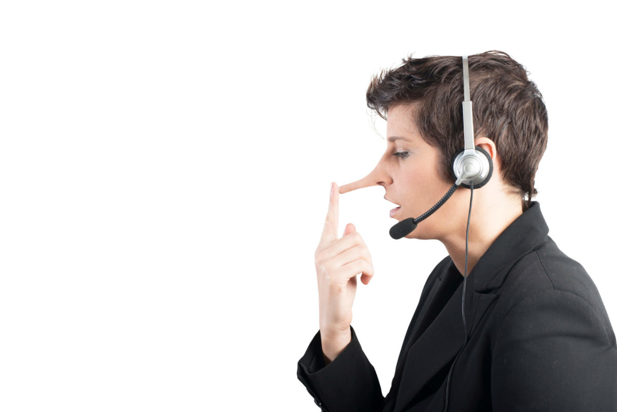 Some debt relief scammers claim to offer legitimate credit consolidation services, but their nose grows with the lies