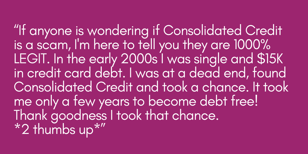 Sonya has some advice for anyone who is wary about credit counseling