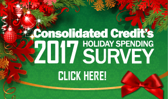 View Consolidated Credit's 2017 holiday spending survey results infographic